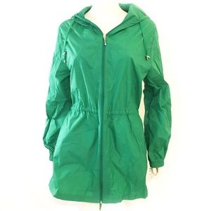 JESSICA kelly green nylon windbreaker jacket